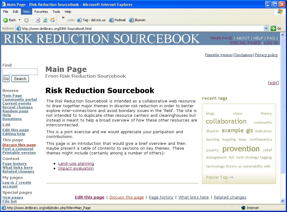 Risk Reduction sourcebook